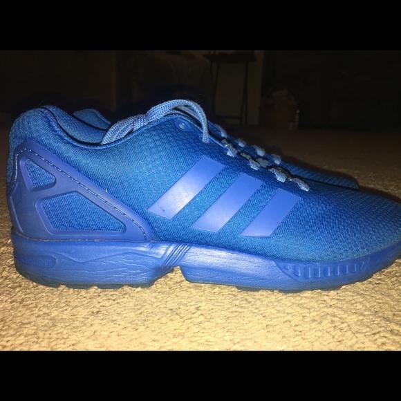 online store 66b7a 3a2b3 Mens Adidas ZX Flux (Bold Blue)